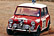 Paddy testing the 1071cc Morris Mini Cooper in England prior to the Monte